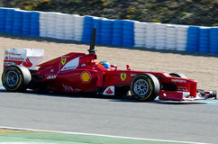 Fernando Alonso de las personas de Ferrari Foto de archivo libre de regalías