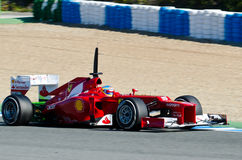 Fernando Alonso de las personas de Ferrari Imágenes de archivo libres de regalías