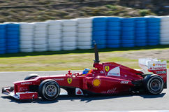 Fernando Alonso de las personas de Ferrari Fotos de archivo libres de regalías