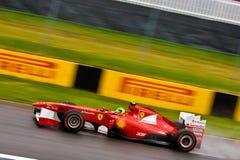 Fernando Alonso, der Montreal am großartigen prix läuft Lizenzfreie Stockbilder