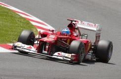 Fernando Alonso di Ferrari Fotografie Stock Libere da Diritti