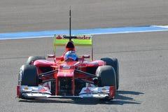 Fernando Alonso en Jerez Stock Images