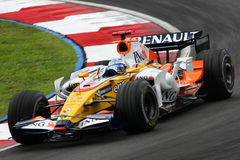 Fernando Alonso, equipe de ING Renault F1 Imagem de Stock Royalty Free