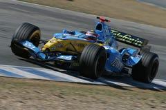 Fernando Alonso, estación de Formula1 2005. Foto de archivo libre de regalías