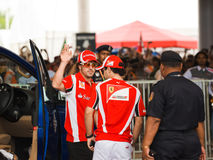 Fernando Alonso et Felipe Massa Photo stock