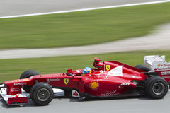 Fernando Alonso exits turn 15 Stock Photos