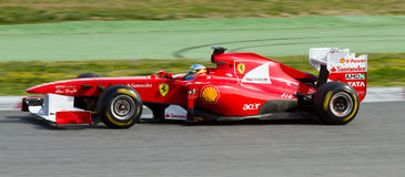 Fernando Alonso (Ferrari) Stock Photo