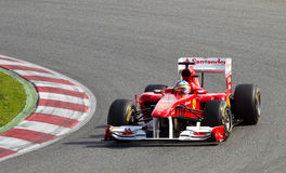 Fernando Alonso (Ferrari) Royalty Free Stock Photo