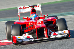 Fernando Alonso (Ferrari) Royalty Free Stock Photos