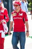 Fernando Alonso Ferrari chaufför Arkivbilder