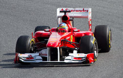 Fernando Alonso Ferrari F1 Photos stock