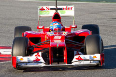Fernando Alonso Ferrari F2012 Photo libre de droits