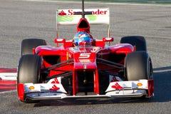 Fernando Alonso Ferrari F2012 Fotografia Stock Libera da Diritti