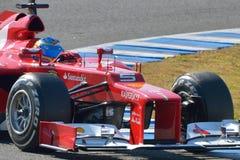 Fernando Alonso, Ferrari F2012 (detalle) Fotos de archivo