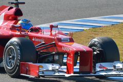 Fernando Alonso, Ferrari F2012 (groupe) Photos stock