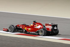 Fernando Alonso of Ferrari racing during practice  Royalty Free Stock Images