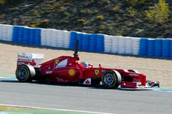 Fernando Alonso of Ferrari team Royalty Free Stock Images