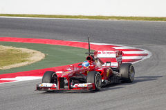 Fernando Alonso Formula 1 Ferrari F138 Royalty Free Stock Images