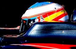 FERNANDO ALONSO (McLAREN HONDA) - PROVA F1 Immagine Stock