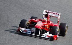 Fernando Alonso (Prix grande espanhol) imagens de stock royalty free