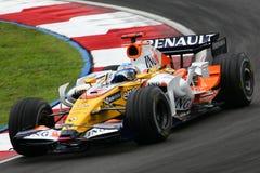 Fernando Alonso, équipe d'ING Renault F1 Image libre de droits