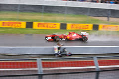 Fernando Alonso racing at Montreal Grand prix Royalty Free Stock Photos
