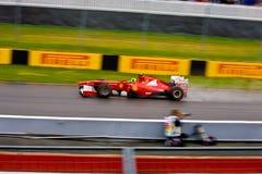 Fernando Alonso racing at Montreal Grand prix Royalty Free Stock Photos