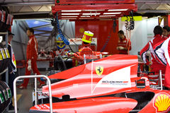 Fernando Alonso's car tail Royalty Free Stock Photography