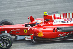 Fernando Alonso Scuderia Ferrari Formula One Team Royalty Free Stock Photos