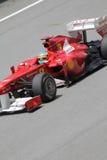 Fernando Alonso w akci zakończeniu up Fotografia Royalty Free