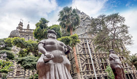 Fernando Botero rzeźba na placu Botero, Medellin, Kolumbia zdjęcie royalty free