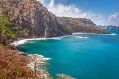 Fernando de Noronha ö i nordost av Braz Royaltyfri Fotografi