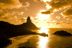 Fernando de Noronha - Brazil. Sunset in Fernando de Noronha, isle in the Northeast of Brazil Royalty Free Stock Image