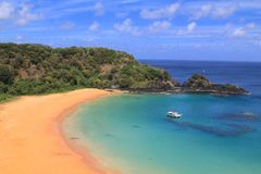 Fernando de Noronha, Brazil. Baia do Sancho, Fernando de Noronha (best beach in the world Royalty Free Stock Photos