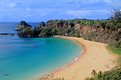 Baia do Sancho, Fernando de Noronha (best beach in the world). Sancho Bay- voted best beach in the World Stock Photos