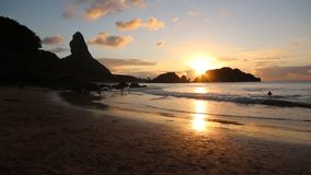 Fernando de Noronha - Sunset stock video