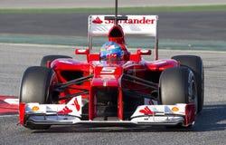 Fernando Ferrari Alonso F1 Fotografia Royalty Free