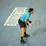 Fernando Gonzalez bij Australische Open 2010 stock afbeelding