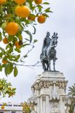 Fernando III El Santo monument in Seville, Spain Stock Photo