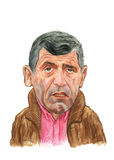 Fernando Santos watercolour portrait. Illustration for editorial use only Stock Photography
