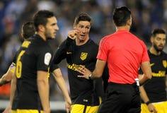 Fernando Torres av Atletico de Madrid Royaltyfria Bilder