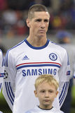 Fernando Torres. Player of Chelsea London pictured before the Uefa Champions League game between his team and Steaua Bucharest. Chelsea won the game 4-0 Stock Photos