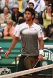Fernando Verdasco at Roland Garros Royalty Free Stock Images
