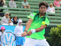 Fernando Verdasco Topspin Backhand before Impact Royalty Free Stock Images
