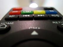 Fernbedienung von The Sun Beginnen Sie neues Projekt Schalten Sie Satellitenfernsehen ein Stockbild
