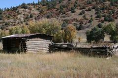Fernberghütte im Colorado Rockys Stockbild