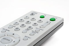 Ferncontroller für Fernsehapparat und DVD Stockfotos