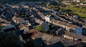 Ferndale, Rhondda. A view overlooking the streets of Ferndale, Rhondda, Wales Stock Photography