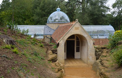 Fernery Swiss Gardens. Old Warden, Bedfordshire, England - September 13, 2014: The Fernery - Grotto Swiss Gardens Stock Photography