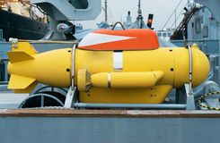 Ferngesteuertes Unterwasserfahrzeug Stockfotografie